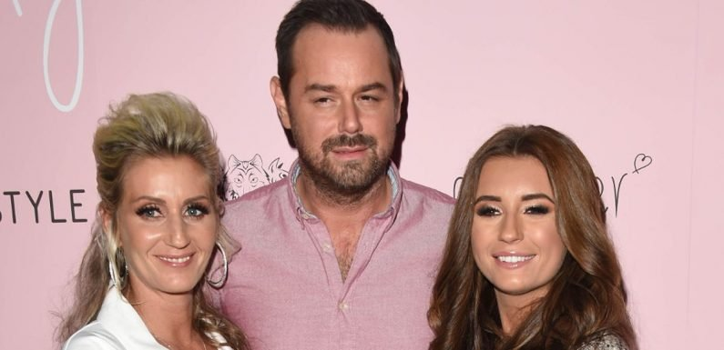 Stone-faced Danny Dyer and Jo Mas leave Dani Dyer's house after her snog with ex