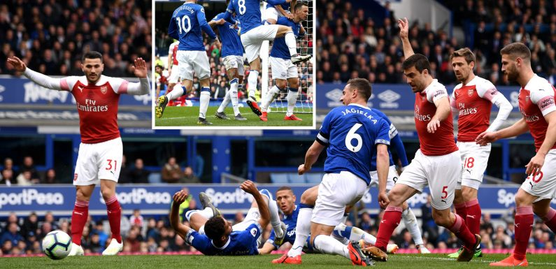 Everton 1 Arsenal 0: Jagielka's early goal sends Gunners tumbling to defeat to dent top four hopes