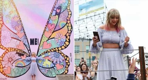 """Taylor Swift Rocked a Lavender Crop-Top Set and Proved Pastels """"Never Go Out of Style"""""""