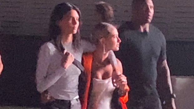 Kendall Jenner Wraps Her Arm Around Hailey Baldwin For Coachella Night Out Without Justin Bieber