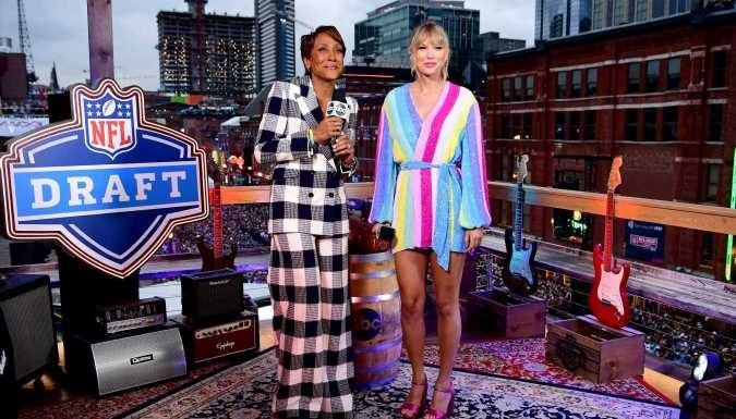 Taylor Swift Reveals Name of Her New Single to Robin Roberts in the Middle of the 2019 Draft