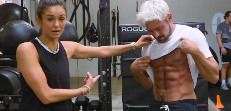 Zac Efron Shows Off His Abs While Working Out With Nina Dobrev – Watch!