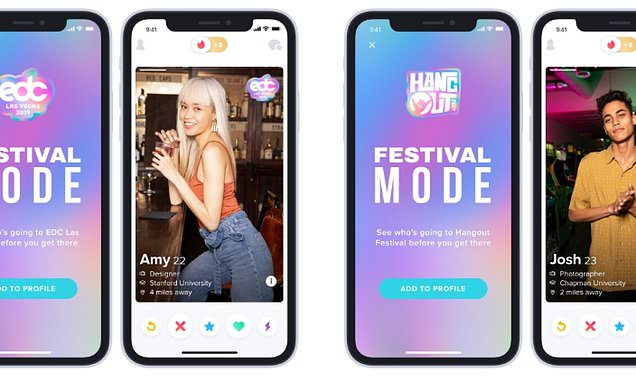 Tinder debuts Festival Mode to help users hook up at music festivals