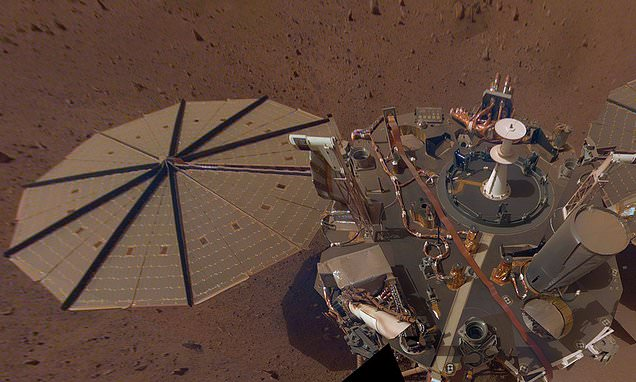 NASA's new Mars lander is already covered in dust