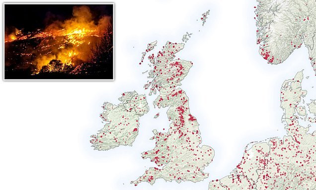 UK faces record breaking number of wildfires this year, warns NASA