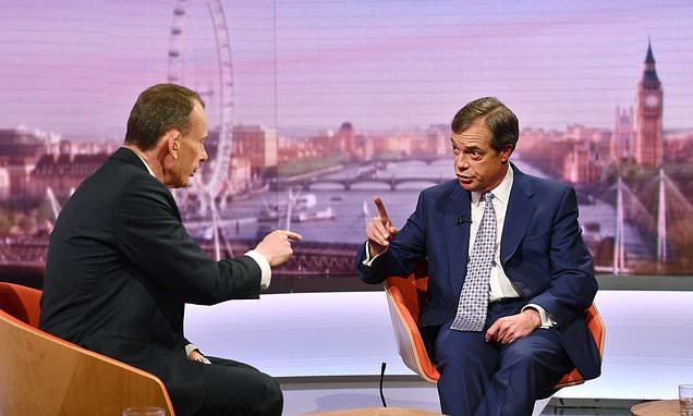Nigel Farage blasts Andrew Marr's 'ludicrous' BBC Brexit interview