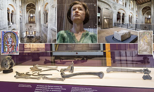 Bones of Saxon queen who was wife of King Canute found in Winchester