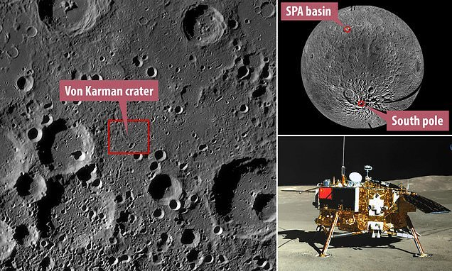 Chinese probe finds rocks from deep inside the moon on its surface