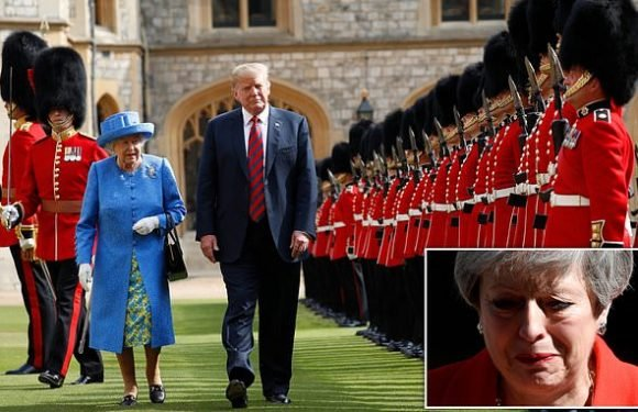 Donald Trump's state visit to Britain in Theresa May's last week as PM