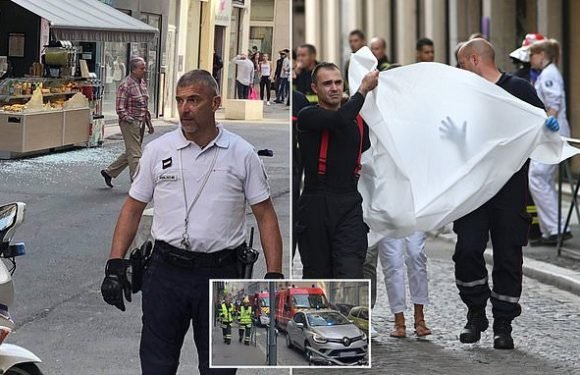 At least eight people are hurt after a 'parcel bomb' explodes in Lyon