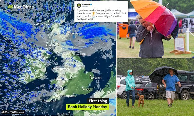 Stormy downpours bring three-day break to a gloomy end