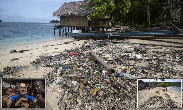 Conservationist finds remote island covered in rubbish