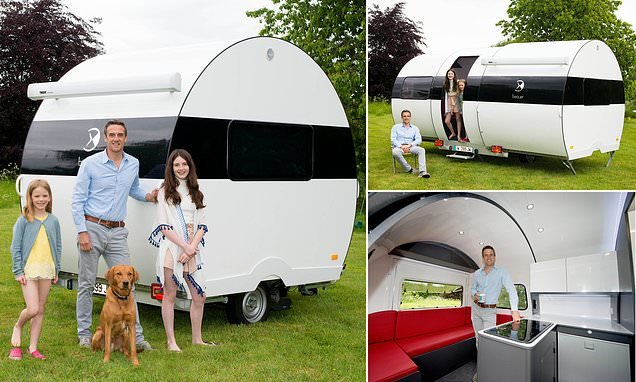 Tiny caravan that almost triples in size at the flick of a switch