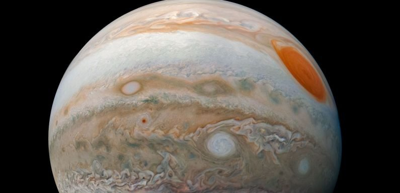 Breathtaking image of Jupiter 'Marble' shows stormy planet in all its glory