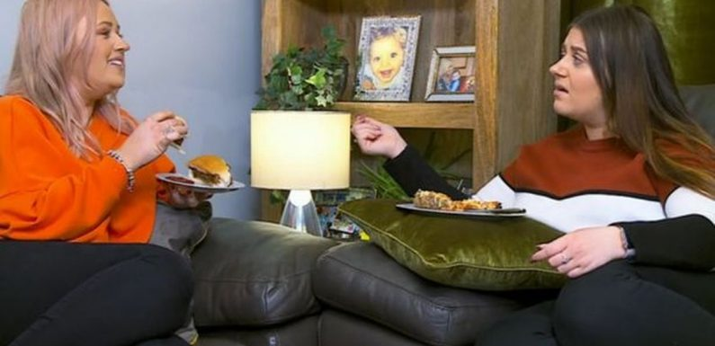 Gogglebox sisters Ellie and Izzi spark fury over pie sandwich