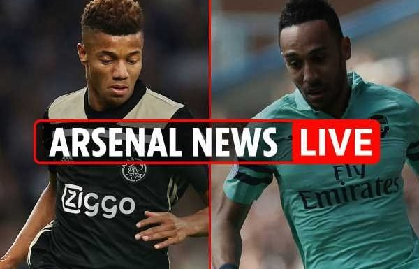 5.15pm Arsenal transfer news LIVE: Aubameyang to Real Madrid, Neres blow, Vieira to West Brom