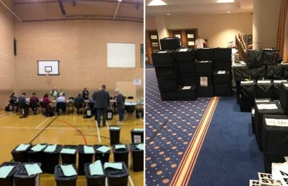 Ballot boxes under guard as Nigel Farage's Brexit Party set for historic victory