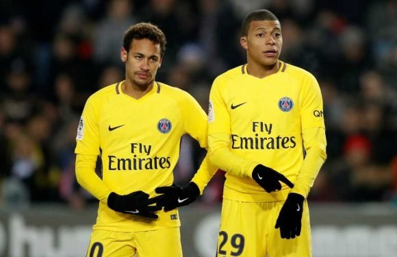 PSG stars Neymar and Kylian Mbappe 'fall out' after Brazil star blasted attitude of squad's 'young people'