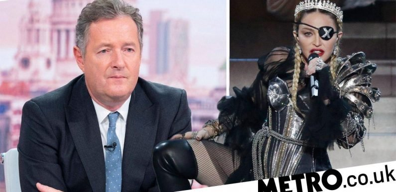 Piers Morgan rips into Madonna's Eurovision performance as UK comes last