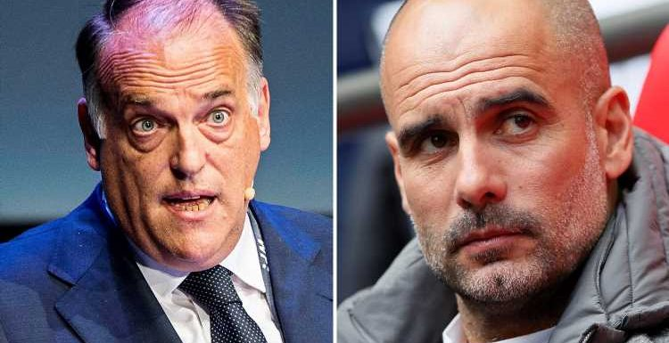 Man City should be booted out from Champions League for 'ruining' football, urges La Liga chief
