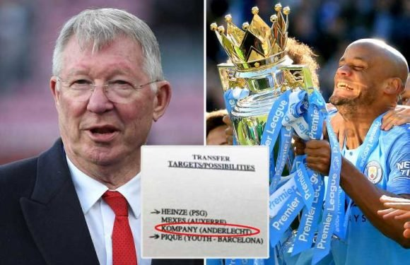 Sir Alex Ferguson's leaked transfer plans reveal he tried to buy Vincent Kompany for Man United in 2004
