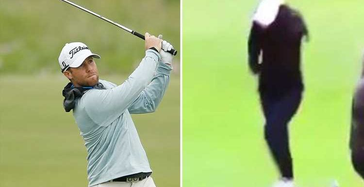 Golfer Tyler Duncan hits WIFE on head from 202 yards at PGA Tour event.. and warns fans 'don't try this at home'