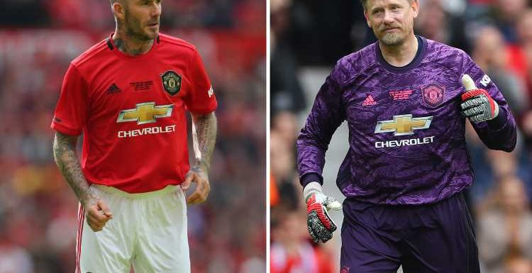Man Utd legends wear new 2019/20 kits that are homage to Beckham, Scholes and Treble winners