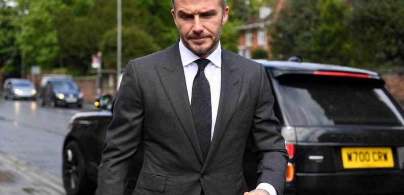 David Beckham banned from driving for six months for using cellphone
