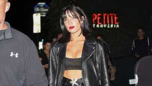 Halsey Rocks Pleather Shorts & Bra Top In Racy West Hollywood Dinner Look — See Pic