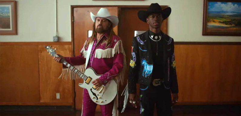 Lil Nas X and Billy Ray Cyrus debut 'Old Time Road' music video