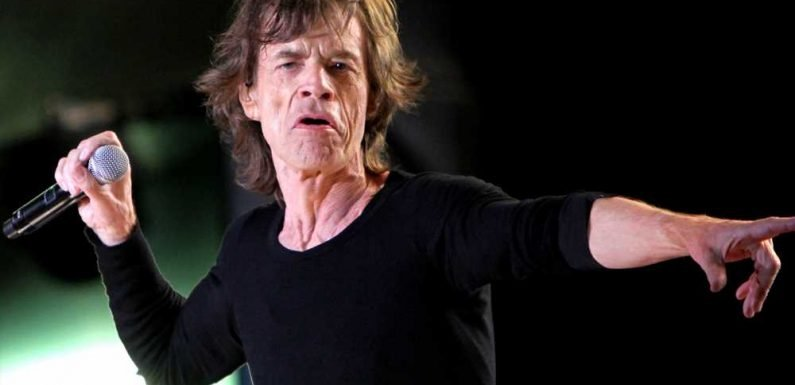 Mick Jagger busts a move after heart surgery
