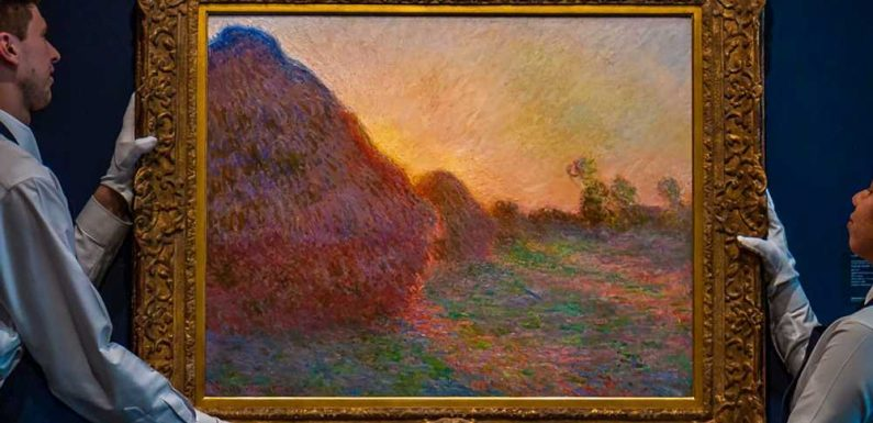 Monet painting 'Meules' sells for more than $110M at auction