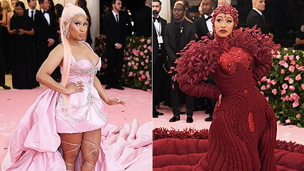 Nicki Minaj Fans Convinced Cardi B Copied Her Red-Hot 2018 Met Gala Look For 2019 Event