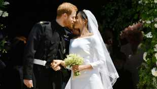 Prince Harry & Meghan Markle Share Beautiful BTS Wedding Photos On Their First Anniversary