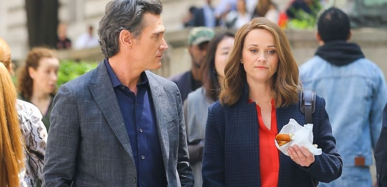 Reese Witherspoon & Billy Crudup Film 'The Morning Show' in NYC