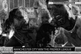 Man City fan screams 'f*** the Scouse c****s into Sky News camera as dad holding kid gives interview