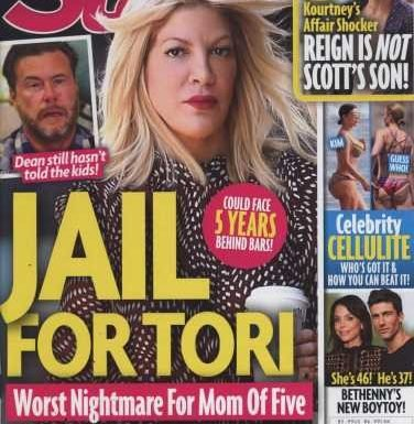 Tori Spelling's arrest warrant dismissed, is that because she finally got a lawyer?