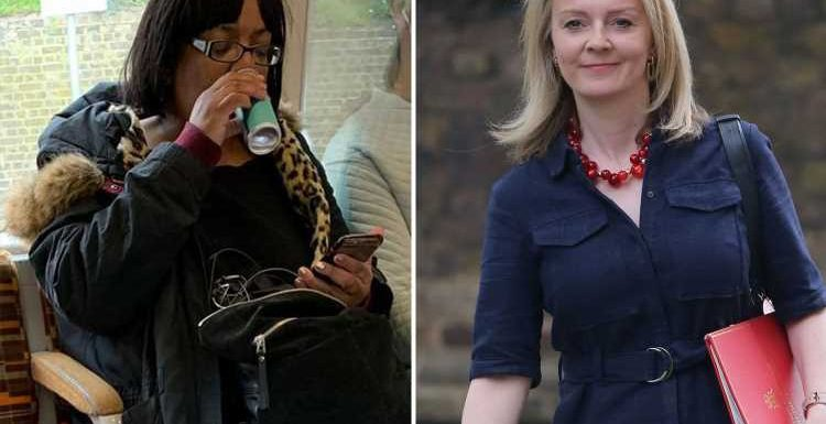 Diane Abbott's right to drink M&S mojitos on the train defended by Liz Truss