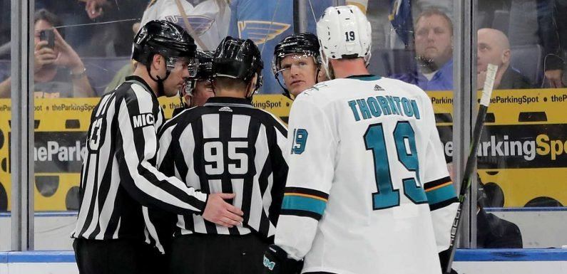 Sharks' OT goal counts, despite illegal hand pass: 'I'm sure they'll lose some sleep'