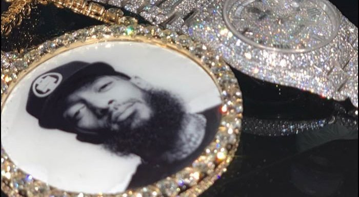 Meek Mill Shows Off New Chain Honoring Nipsey Hussle