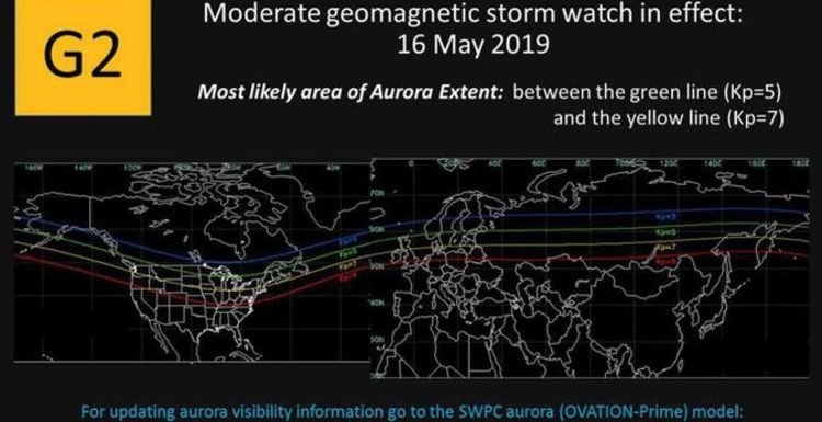 Solar storm TODAY: Tech blackouts and aurora possible as forecasters issue storm watch