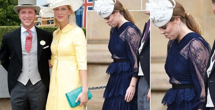 Royal wedding: Princess Beatrice shows some skin in lace dress at Lady Gabriella wedding