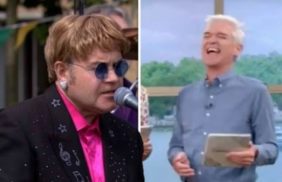 ITV This Morning: Phillip Schofield in stitches after fooling GMB with Elton John stunt