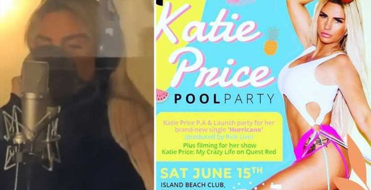 Katie Price debuts new single Hurricane and announces she's launching it with a pool party in Majorca – and YOU can go along