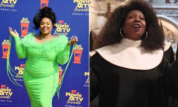 """The Tweets About Lizzo's 'Sister Act' Tribute At The 2019 MTV Movie Awards Are So """"Joyful, Joyful"""""""