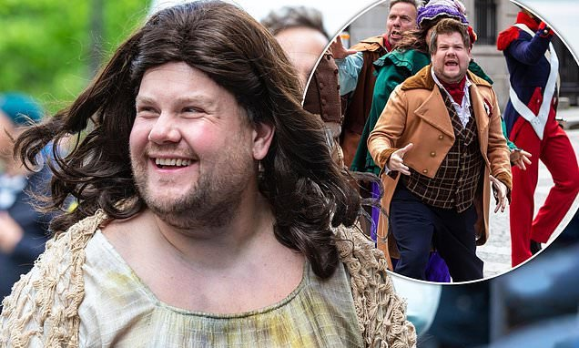 James Corden films Les Misérables skit in Paris