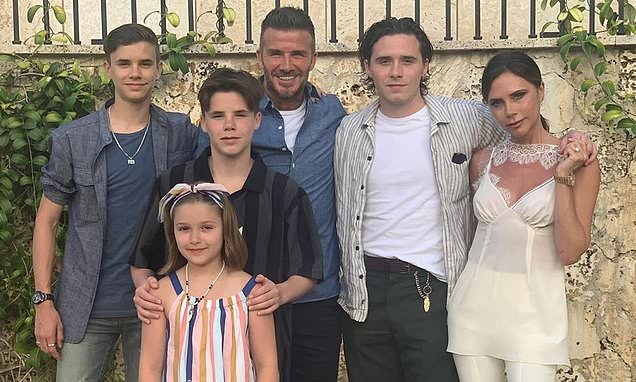 The entire Beckham brood pose for a sweet family snap