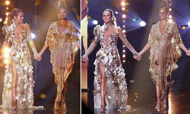 Defiant Amanda Holden dons ANOTHER racy sheer dress for BGT final
