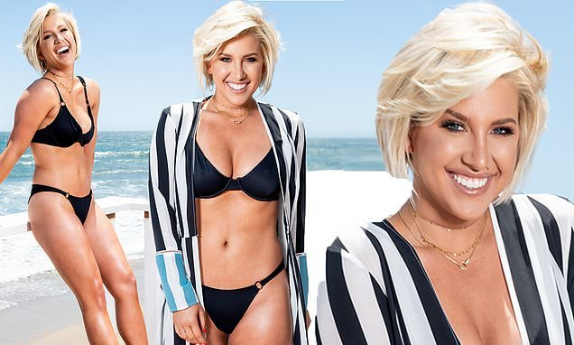 Chrisley Knows Best star Savannah Chrisley shows in a black bikini