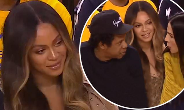 Beyonce FUMING as woman cuts across her to chat to Jay Z